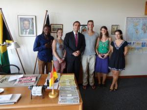 Besuch in der Botschaft
