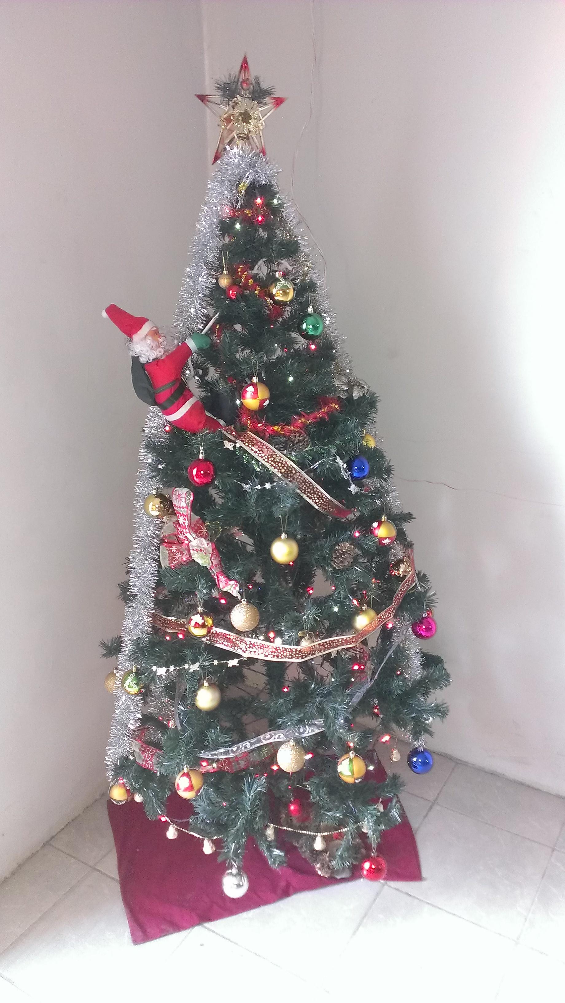 Sogar einen Weihnachtsmann hat es auf den Baum in der Musikschule geschafft!